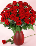 send gifts to bangladesh, send gift to bangladesh, banlgadeshi gifts, bangladeshi 36 Red Rose With Ceramic Vase