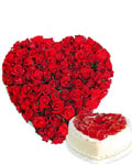 send gifts to bangladesh, send gift to bangladesh, banlgadeshi gifts, bangladeshi Love Combo with 50 Rose +  Cake