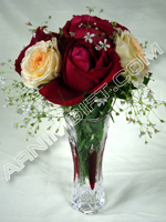 send gifts to bangladesh, send gift to bangladesh, banlgadeshi gifts, bangladeshi Red & Yellow Rose+Vase