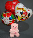 send gifts to bangladesh, send gift to bangladesh, banlgadeshi gifts, bangladeshi Teddy &  Balloon Combo