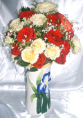 send gifts to bangladesh, send gift to bangladesh, banlgadeshi gifts, bangladeshi 36  Mix Rose & Vase
