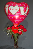 send gifts to bangladesh, send gift to bangladesh, banlgadeshi gifts, bangladeshi Balloon & Rose Combo