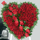send gifts to bangladesh, send gift to bangladesh, banlgadeshi gifts, bangladeshi Heart  with 50 Rose