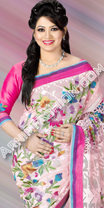 send gifts to bangladesh, send gift to bangladesh, banlgadeshi gifts, bangladeshi Exclusive Pink Jamdani