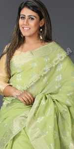 send gifts to bangladesh, send gift to bangladesh, banlgadeshi gifts, bangladeshi Green Lemon Silk Saree