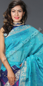 send gifts to bangladesh, send gift to bangladesh, banlgadeshi gifts, bangladeshi Multi Color Silk Sari