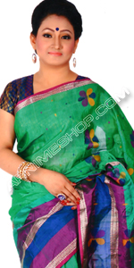 send gifts to bangladesh, send gift to bangladesh, banlgadeshi gifts, bangladeshi Multi Color Silk