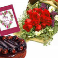 send gifts to bangladesh, send gift to bangladesh, banlgadeshi gifts, bangladeshi Cake+Rose+Card Combo