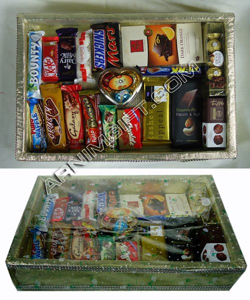 Send Gift Basket with 19 Item Chocolate to Bangladesh, Bangladesh Newspaper, Bangladeshi gift, send gifts to bangladesh, send gift to bangladesh